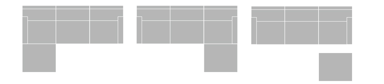 3WAYソファの組替えパターン