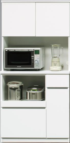 ローリエ 90 WH キッチンボード