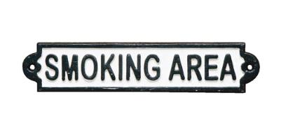 2428 アイアンサイン SMOKING AREA