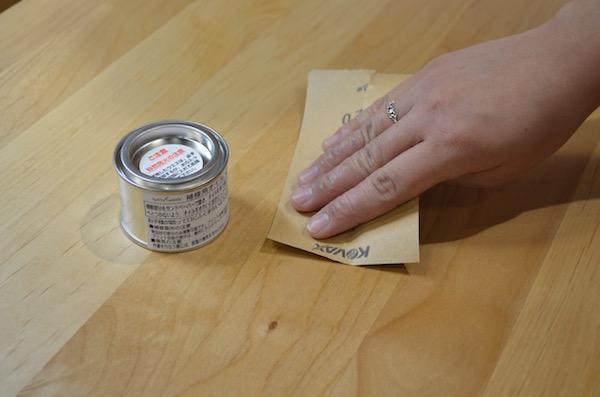 学習デスク シズク 無垢材 アルダー材 オイル塗装 メンテナンス