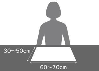 ダイニングテーブルに必要なサイズ 一人分のスペース