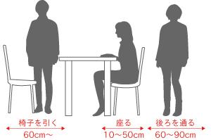ダイニングテーブルを置く時に注意する動線
