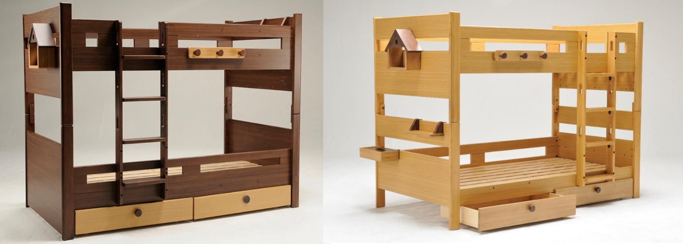 高さ調節可能、はしごのタイプが選べる2段ベッド「カスティナ」シリーズ