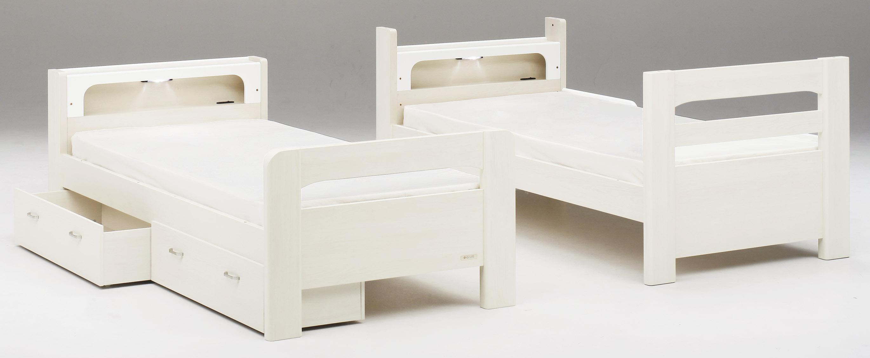 2段ベッド「ラキッズ」はシングルベッドに組み換えもできます