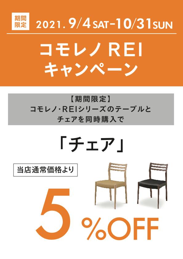 コモレノ REI キャンペーン